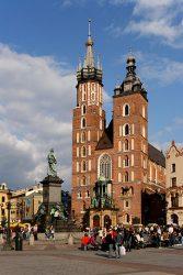 zanieczyszczenie powietrza w Krakowie - widok Kościoła Mariackiego